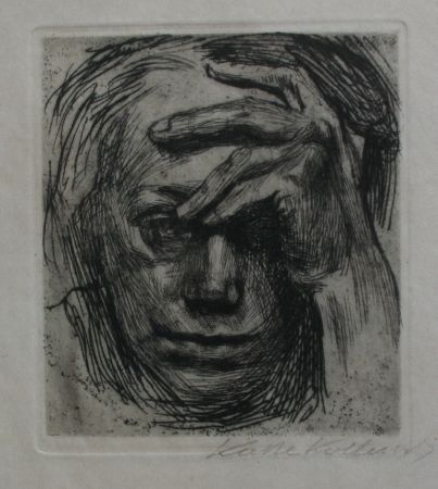 Etching Kollwitz - Self-portrait