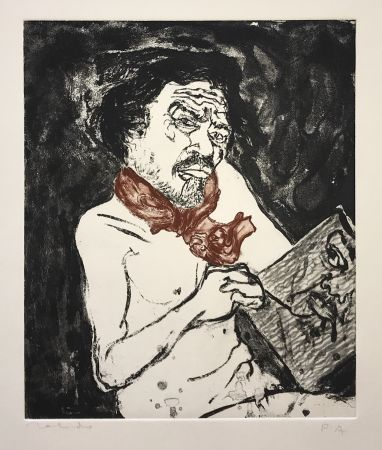 Etching Toledo - Self-Portrait