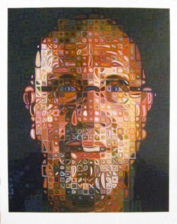 Screenprint Close - Self-Portrait Screenprint 2012