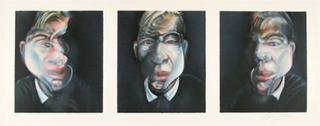 Lithograph Bacon - Self-Portrait  Tryptique