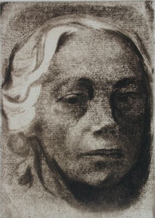 Etching Kollwitz - Self Portrait