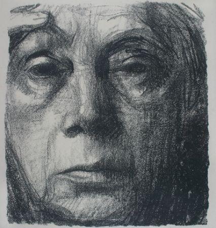 Lithograph Kollwitz - Self Portrait