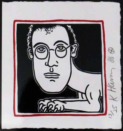Screenprint Haring - Self Portrait