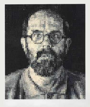 Screenprint Close - Self Portrait by Chuck Close