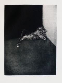 Etching Scholder - Self Portrait in Barcelona