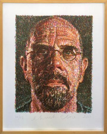Screenprint Close - Self Portrait (Lincoln Center)