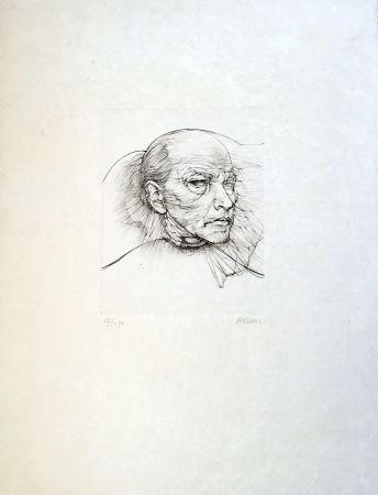 Drypoint Bellmer - Selfportrait