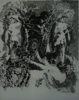 Etching And Aquatint Rouan  - Selon ses faces 1