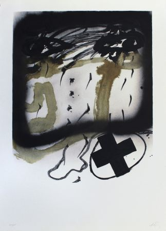 Lithograph Tapies - Senanque I