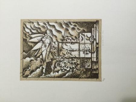 Lithograph Bodini - Sensa titolo