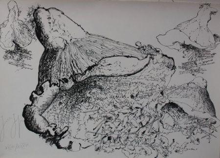 Lithograph Grass - Senza titolo
