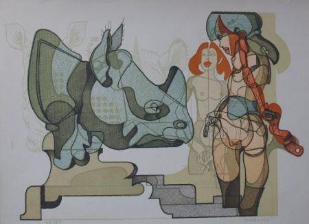 Lithograph Bodini - Senza titolo