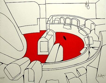 Lithograph Adami - Senza titolo