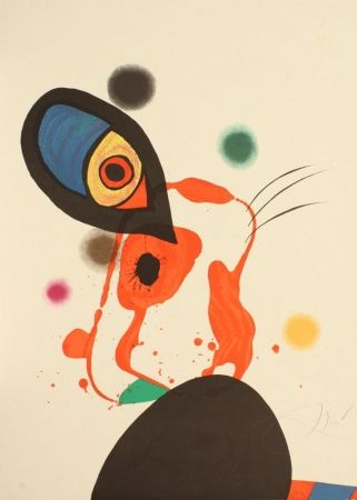 Lithograph Miró - Senza titolo