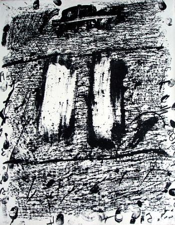 Lithograph Tàpies - Senza titolo