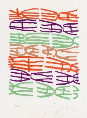 Lithograph Capogrossi - Senza Titolo