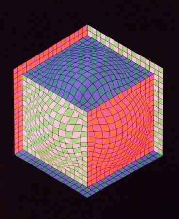 Lithograph Vasarely - Senza titolo