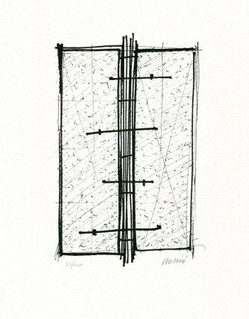 Lithograph Uncini - Senza titolo