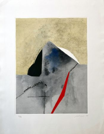 Etching And Aquatint Santomaso - Senza titolo 2