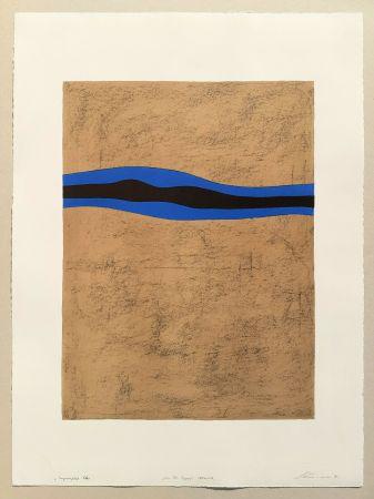 Lithograph Santomaso - Separazione blu