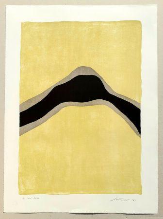Lithograph Santomaso - Separazione giallo e nero