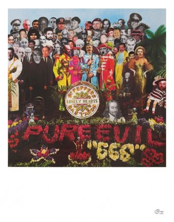 Screenprint Pure Evil - Sergent peppers lonely heart bastards