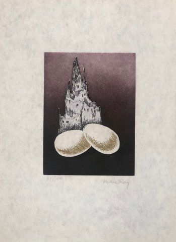 Etching And Aquatint Ray - Seria Electro Magie I