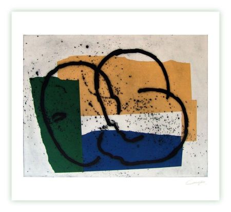 Etching Canogar - Serie constructivista n-7-90