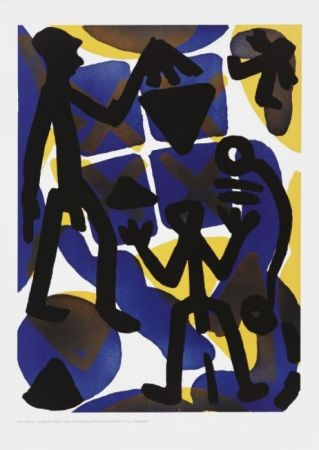 Etching And Aquatint Penck - Serie I Vergleich