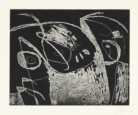 Engraving Miró - Serie Mallorca - Negro y Blanco IX