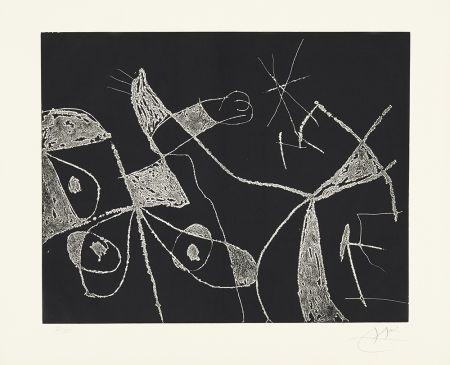 Engraving Miró - Serie Mallorca - Negro y Blanco VI