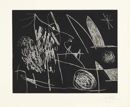 Engraving Miró - Serie Mallorca - Negro y Blanco VII