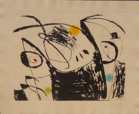 Etching And Aquatint Miró - Serie Mallorca nº X