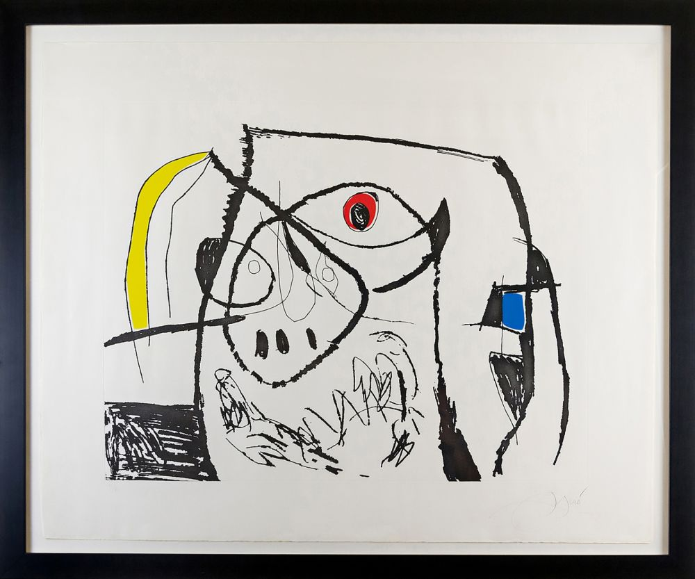 Etching Miró - Serie Mallorca Plate XII