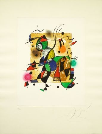 Etching Miró - Series Gaudi 41