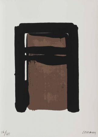 Screenprint Soulages - Serigraphie no. 10 (from Sur le mur d'en face)