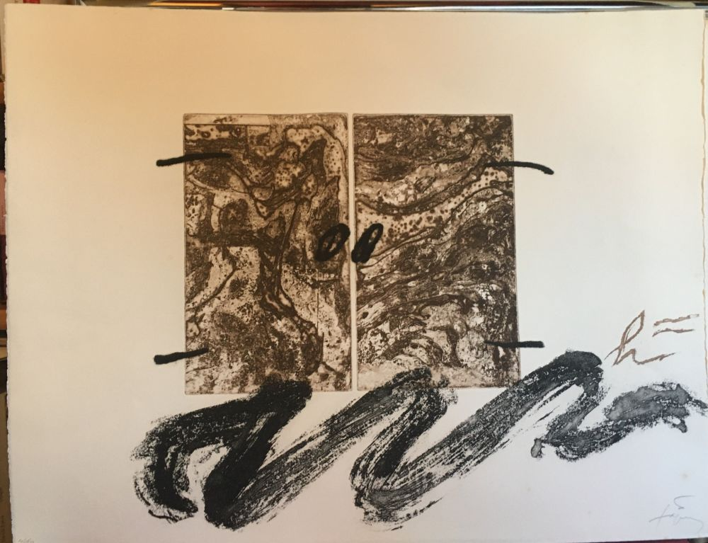 Engraving Tàpies - Serp