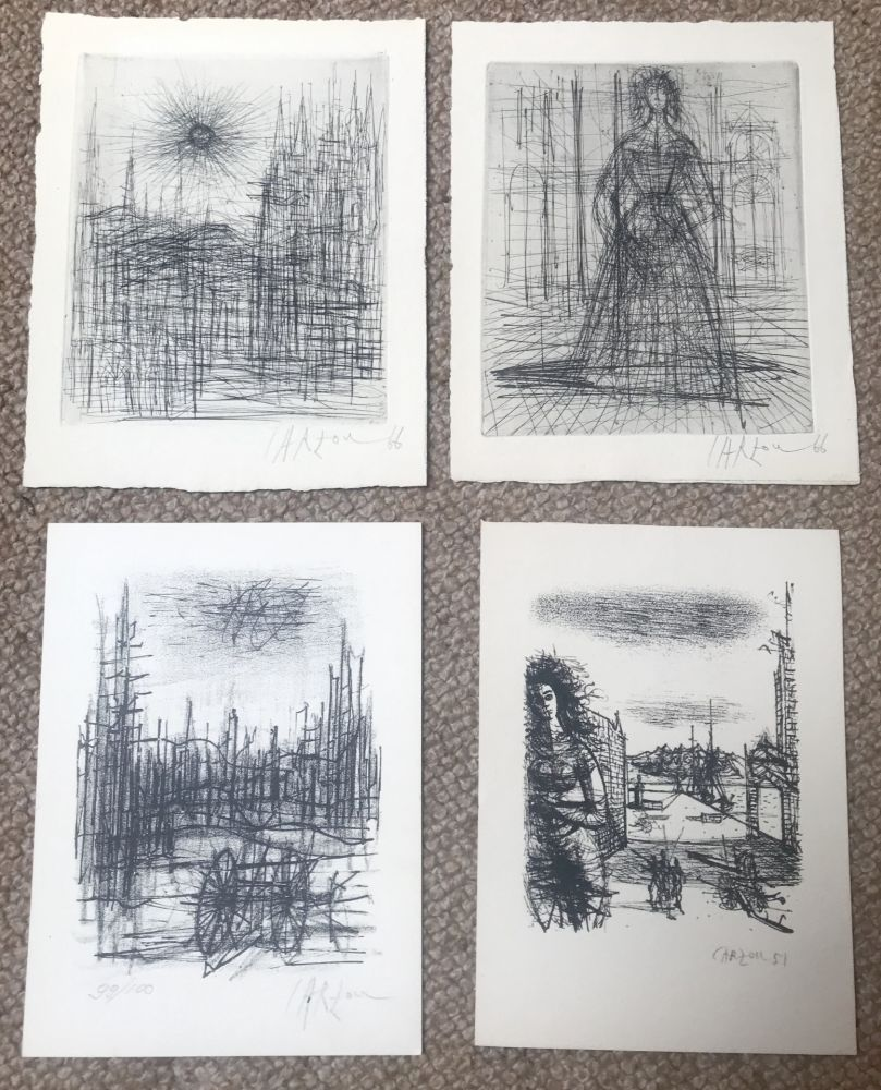 Multiple Carzou - Set of 4 artworks