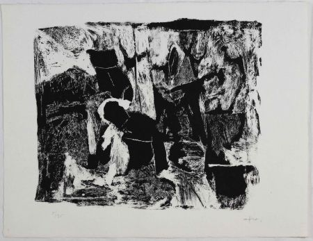 Etching And Aquatint Afro - Settima stanza