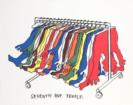 Screenprint Kogelnik - Seventh Avenue People