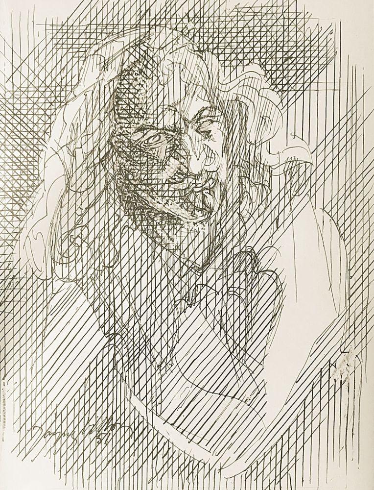Lithograph Villon - Shakespeare