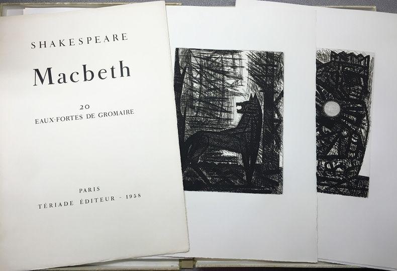Etching Gromaire - SHAKESPEARE, William: MACBETH.