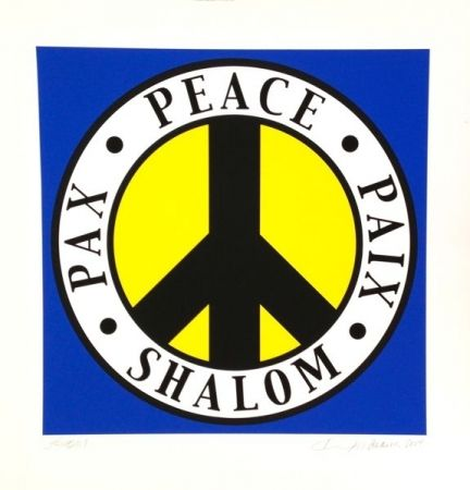 Screenprint Indiana - Shalom, Peace