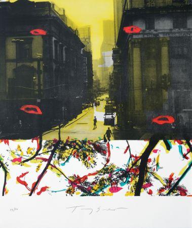 Lithograph Soulie - Shanghai rue de la Soie