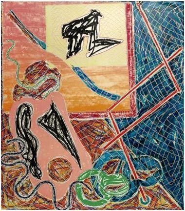 Lithograph Stella - Shards I (1982)