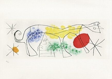 Etching And Aquatint Miró - Sheet 1 from
