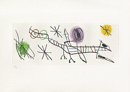 Etching And Aquatint Miró - Sheet 2 from
