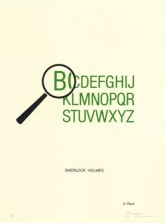 Lithograph Brossa - Sherlock Holmes