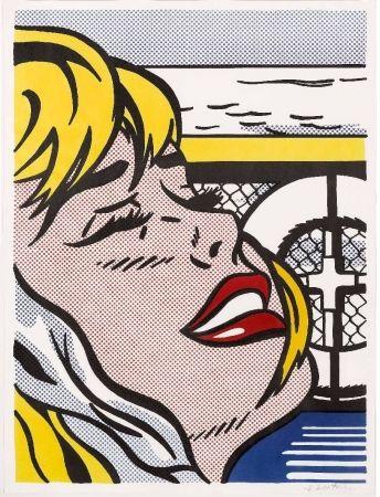 Lithograph Lichtenstein - Shipboard Girl (Corlett II. 6)