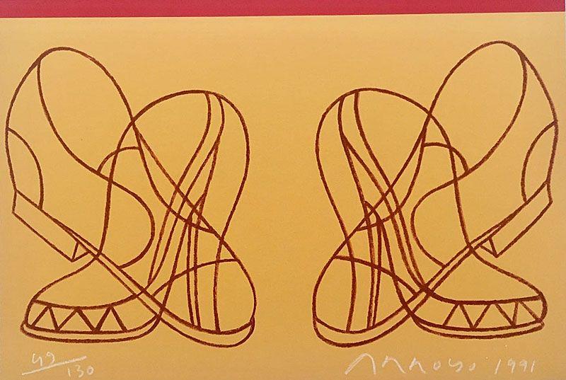 Lithograph Arroyo - Shoes